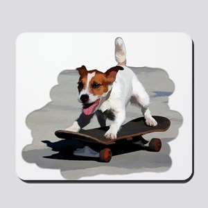 Jack Russel Terrier on Skateboard Mousepad
