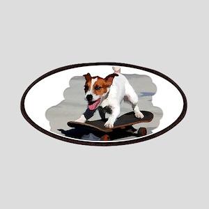 Jack Russel Terrier on Skateboard Patch