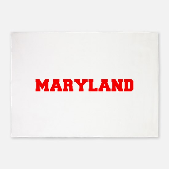 MARYLAND-Fre red 600 5'x7'Area Rug