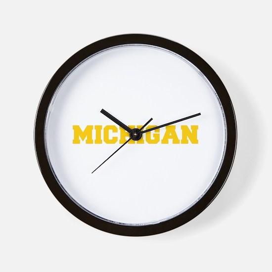 MICHIGAN-Fre gold 600 Wall Clock