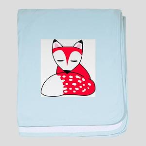 SMALL FOX baby blanket