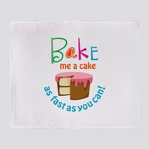 BAKE ME A CAKE Throw Blanket