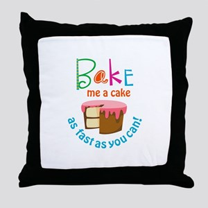 BAKE ME A CAKE Throw Pillow