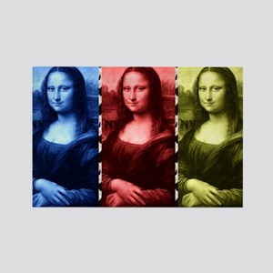 Mona Lisa Animal Print Primary Colors Magnets