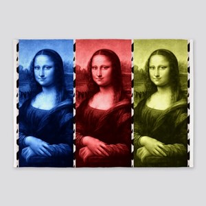 Mona Lisa Animal Print Primary Colors 5'x7'Area Ru