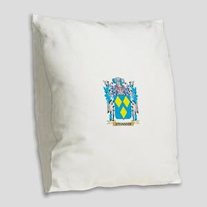 Steinbeck Coat of Arms - Famil Burlap Throw Pillow