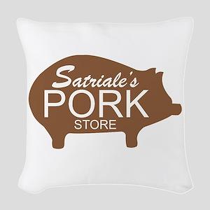Sopranos Satriales Pork Store Woven Throw Pillow