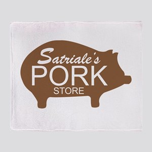 Sopranos Satriales Pork Store Throw Blanket