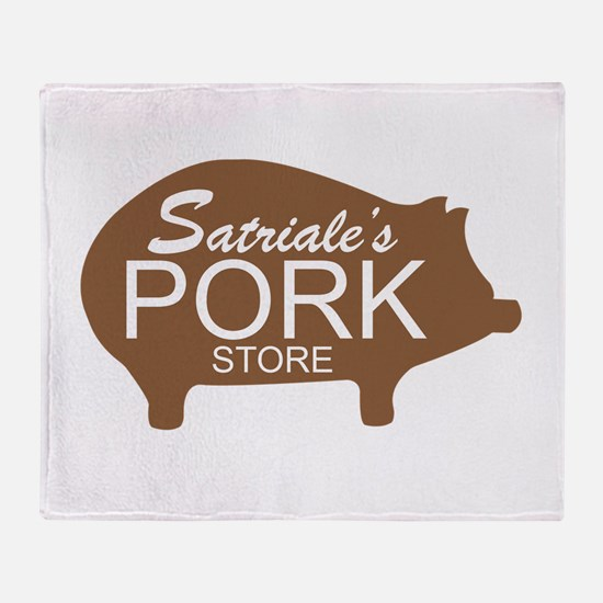 Sopranos Satriales Pork Store Throw Blanket