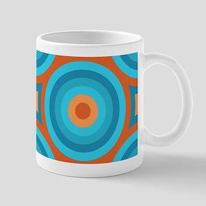 Orange and Blue Mid Century Modern Mugs
