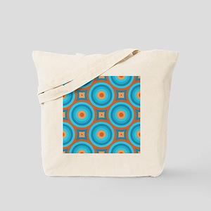 Orange and Blue Mid Century Modern Tote Bag