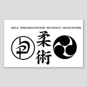 Self preservation without hesitation Sticker