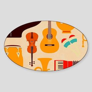 Mid Century Musical Sticker