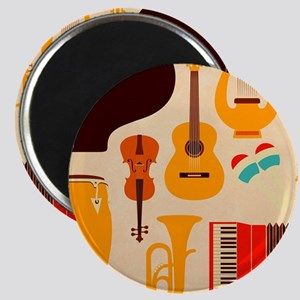 Mid Century Musical Magnets