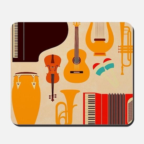 Mid Century Musical Mousepad
