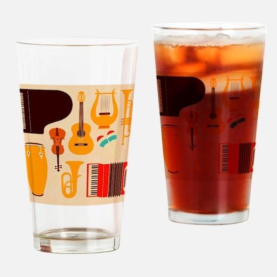 Mid Century Musical Drinking Glass