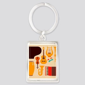 Mid Century Musical Keychains