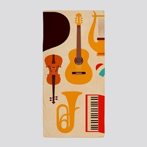Mid Century Musical Beach Towel