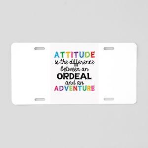Positive Attitude Aluminum License Plate