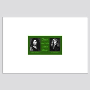 Leibniz and Newton Large Poster