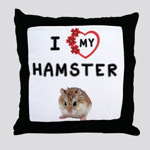 Love My Hamster Throw Pillow