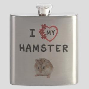 Love My Hamster Flask