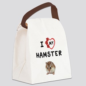 Love My Hamster Canvas Lunch Bag