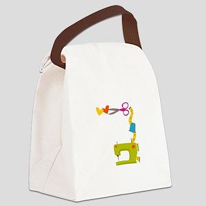 SEWING MACHINE CORNER Canvas Lunch Bag