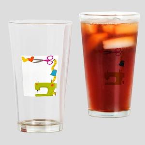 SEWING MACHINE CORNER Drinking Glass