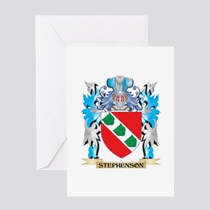 Stephenson Coat of Arms - Family Cr Greeting Cards