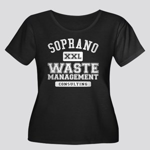 Soprano Women's Plus Size Scoop Neck Dark T-Shirt