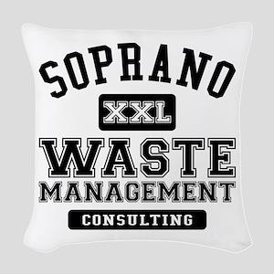 Soprano Waste Management Woven Throw Pillow