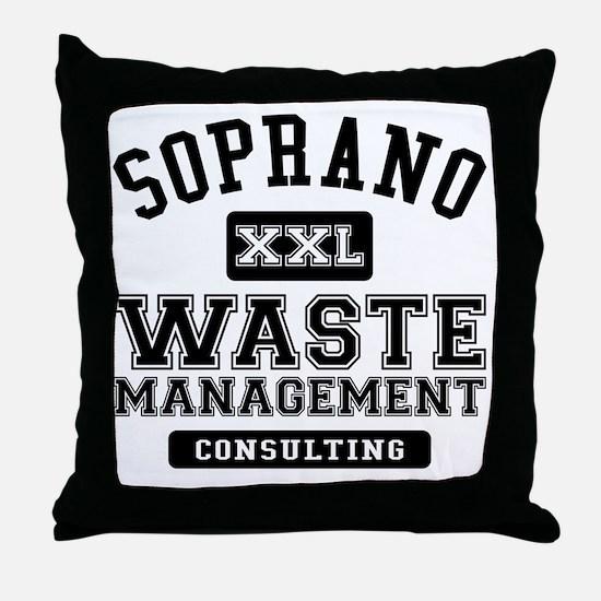 Soprano Waste Management Throw Pillow