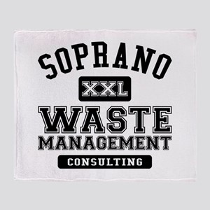 Soprano Waste Management Throw Blanket