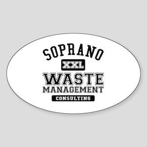 Soprano Waste Management Sticker (Oval)