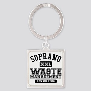 Soprano Waste Management Square Keychain