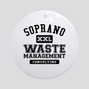 Soprano Waste Management Round Ornament