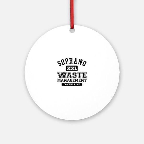Soprano Waste Management Round Ornament