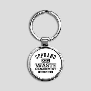 Soprano Waste Management Round Keychain