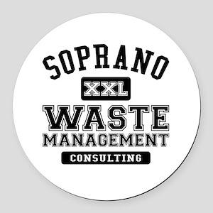 Soprano Waste Management Round Car Magnet