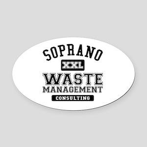 Soprano Waste Management Oval Car Magnet