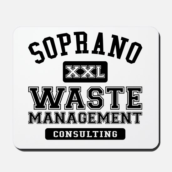 Soprano Waste Management Mousepad