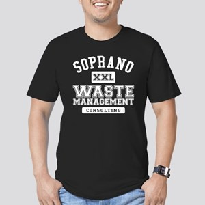 Soprano Waste Manageme Men's Fitted T-Shirt (dark)