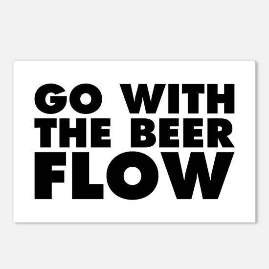 Go With The Beer Flow Postcards (Package of 8)