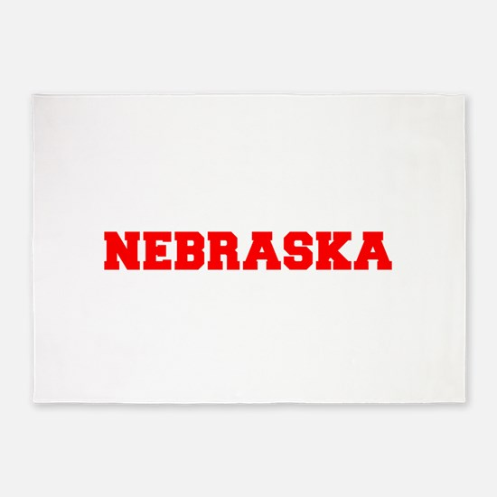 NEBRASKA-Fre red 600 5'x7'Area Rug