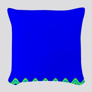 Blue Splendor Mirage Oliver's Woven Throw Pillow