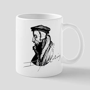 John Calvin Logo With Signature Mugs