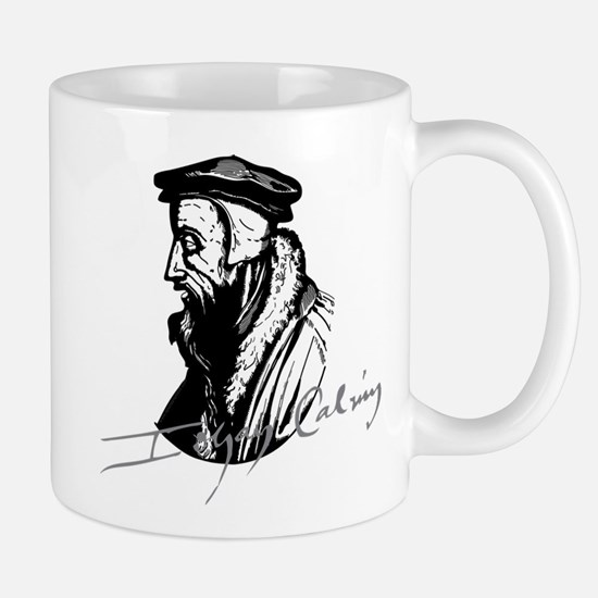 John Calvin Logo With Signature Mugs