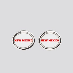 NEW MEXICO-Fre red 600 Oval Cufflinks