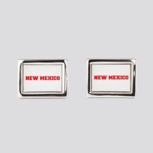 NEW MEXICO-Fre red 600 Rectangular Cufflinks